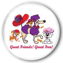 PURSE MIRROR ORGANZA BAG RED HAT PUPPY DOG GREAT FRIENDS FOR LADIES OF S... - $7.91