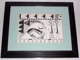 """Rare 1987 REBECCA L.G PRESCOTT """"ADAM & EVE"""" PRINT ADJE DESIGN - $191.99"""