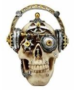 Steampunk Cyborg R&B Funk Music Fanatic With Headphone Skull Figurine 5.... - £16.71 GBP