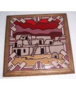 1983 FIESTA TILES SOUTHWESTERN CERAMIC COLOR TRIVET ART - $36.24