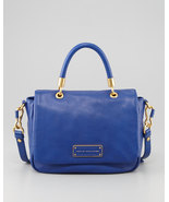 NWT MARC by MARC JACOBS Too Hot to Handle Leather Satchel Bag BAUHAUS BLUE $450+ - $279.90