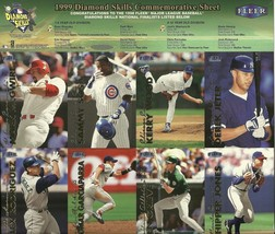 1999 Fleer Tradition Diamond Skills Sheet 8 Players EX - $4.00