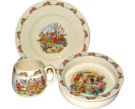 Royal Doulton Bunnykins Nursery Set, Plate Bowl & Mug