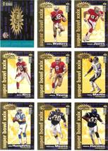 1995 ud you crash the game football set redemption 49ers vs chargers super bowl  - $15.99