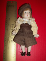 Toy Treasure Porcelain Face Doll Victorian Clothes Hat Short Pants Shoes... - $18.99