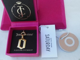 "NWT Juicy Couture Couture Yourself ""O"" Charm Brushed Gold Tone & Kate Sp... - $18.50"