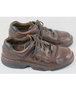 Hush Puppies Dark Brown Leather Oxford Shoes Men's Size 7.5 W US Excellent - $19.68