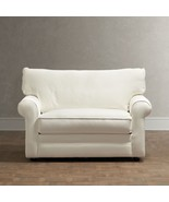 CHIC SHABBY FRENCH STYLE WHITE TWILL SOFA/BED,57'' W X 40''D X 31''H. - $1,777.05