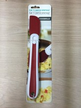 CASABELLA FLIP 'N SWITCH RED SILICONE 2 IN 1 SPATULA COOKING BAKING AE2