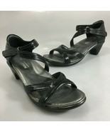 "Naot Womens 6US 37 Minerva Black Leather 2"" Heels Grecian Sandals NEW - $77.27"