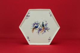 Vintage Dressing Table Porcelain Tray with Bird... - $67.27