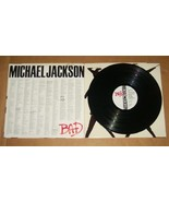 1987 MICHAEL JACKSON BAD EPIC RECORD LP - $152.59