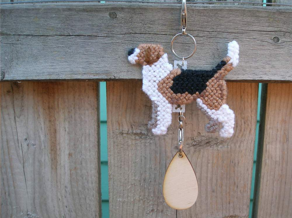 Harrier dog crate tag or home decor hang anywhere, handmade pet art by artist