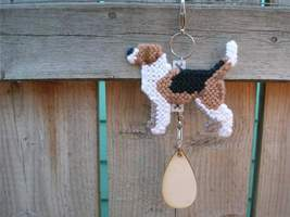 Harrier dog crate tag or home decor hang anywhere, handmade pet art by a... - $18.00
