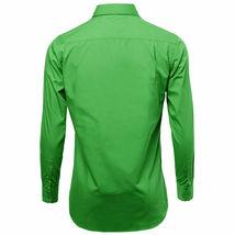 Omega Italy Men's Green Dress Shirt Long Sleeve Regular Fit w/ Defect - M image 3