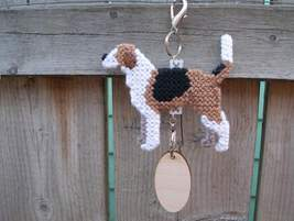 American Foxhound dog crate tag or hang anywhere decor accessory, handma... - $19.00