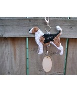 English Foxhound dog crate tag or hang anywhere pet art, handmade accessory - $20.00