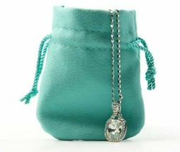 New Jewelry Pouch Pendant Storage Bag Blue Drawstring Gift Pouch Jewelry... - $17.66