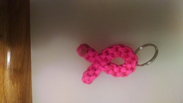 pink ribbon keychain Made in USA - $7.00