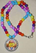 """LEGO MOVIE Bottlecap 20"""" BEADED NECKLACE! Great for birthday party favors. - $3.50"""