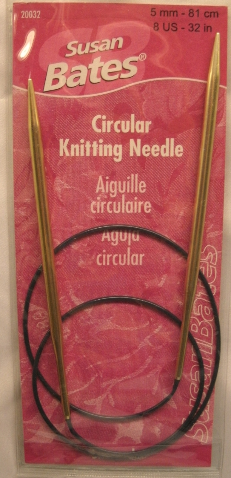"Primary image for Susan Bates CIRCULAR KNITTING NEEDLE - NEW - 32"" Sizes 6, 7 or 8 Silverado"