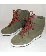 NEW WOMENS NIKE DUNK SKY HI OLIVE GREEN SNEAKERS 9.5 US 7 UK 41 EUR 26.5 CM - $118.75