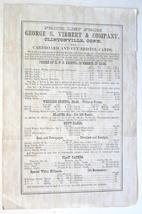 Vibbert Clintonville CT antique advertising flyer cardbord Bristol cards... - $9.00