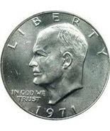 1971-S Uncirculated Eisenhower 40% Silver Dollar CP6502 - £12.87 GBP