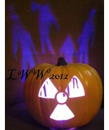 Yellow Radioactive Sign Zombie Color changing jack-o-lantern Halloween P... - $29.99