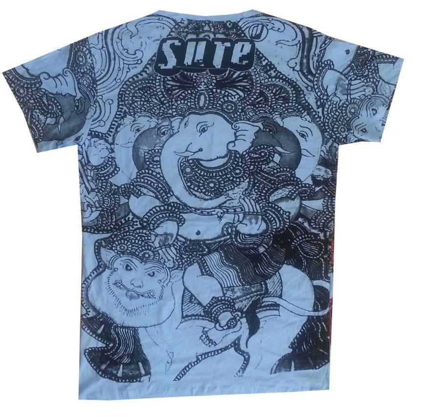 Men T Shirt BUDDHA YOGA NIRVANA Om HIPPIE Hobo boho L NO TIME buy online cotton