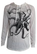 Yoga Hoodie Octopus Ocean Sea nature Peace Zen Hobo Boho Sure Hippie Sz ... - $24.73