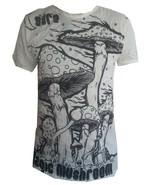 md1 Yoga Men T Shirt Magic Mushrooms Shaman Goa Zen Peace Hobo Boho M RA... - $16.82