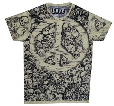 z3 Men T Shirt Scull Heavy metal Rock Space Retro Peace Eye mistery M RARE Sure - $19.79