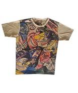 p1m Men T Shirt Picasso Dada Art Rock Hippie Faces Tribe Maya Hobo Boho ... - $18.01