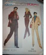 Vogue Misses Size 12 Ann Klein Pants, Jacket, & Blouse # 1996  - $5.99