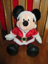 "Disney MICKEY MOUSE Christmas Plush~Red & White Santa Suit~18"" Doll - $7.99"