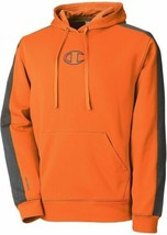 Champion Hommes Sweatshirt Taille M Kaki Orange Gris à Capuche Pull-Over... - $39.52