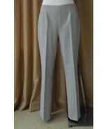 Ralph Lauren Black Label Pants Dress Slacks Light Gray Wool 6 mint - $127.71
