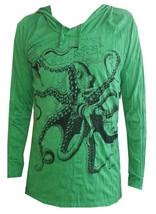 grn4 Yoga Hoodie Octopus Ocean Sea nature Peace Zen Hobo Boho Sure Hippi... - $21.77