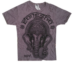 zm- Yoga Men T Shirt Buddha Ganesha Lotus  India OM Peace Hobo Boho M RARE Sure - $18.80