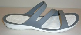 Crocs Size 11 SWIFTWATER Smoke White Sandals New Womens Shoes - $68.31