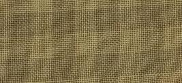 28ct Natural/Straw Gingham overdyed linen 18x27 cross stitch fabric Weeks Dye Wo - $28.45