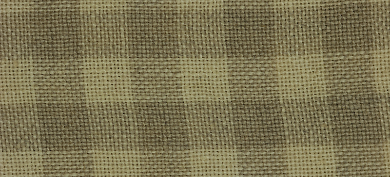 Primary image for 28ct Natural/Light Khaki Gingham overdyed linen 36x54 cross stitch fabric Weeks