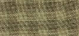 28ct Natural/Light Khaki Gingham overdyed linen 36x27 cross stitch fabric Weeks  - $56.90