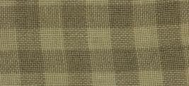 28ct Natural/Light Khaki Gingham overdyed linen 18x27 cross stitch fabric Weeks  - $28.45