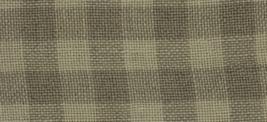 28ct Natural/Light Khaki Gingham overdyed linen 13x18 cross stitch fabric Weeks  - $14.40