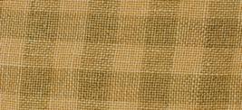 28ct Gray/Straw Gingham overdyed linen 13x18 cross stitch fabric Weeks  - $14.40