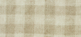 28ct Natural/Tin Roof Gingham overdyed linen 36x54 cross stitch fabric Weeks  - $113.75