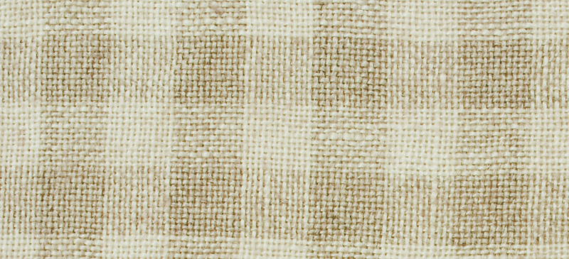 Primary image for 28ct Natural/Tin Roof Gingham overdyed linen 18x27 cross stitch fabric Weeks