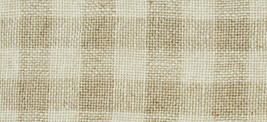 28ct Natural/Tin Roof Gingham overdyed linen 13x18 cross stitch fabric W... - $14.40
